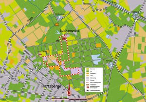 Kaart wandeling Heideveld-Bornebeek.
