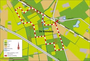 Kaart van de wandeling.